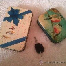 Cajas y cajitas metálicas: CAJAS ANTIGUAS VDA DE SOLANO,Y BLUE BIRD TOFFEE ,HARRY VINCENT LTD. Lote 36147800