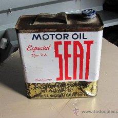 Cajas y cajitas metálicas: LATA DE ACEITE SEAT 5 LITROS. Lote 36215758