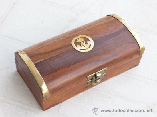 Caja De Madera Tipo Baul Decorada Con Metal Anc Comprar Cajas