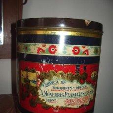 Cajas y cajitas metálicas: CAJA DE HOJALATA: TORTAS IMPERIALES (JIJONA). Lote 36371257