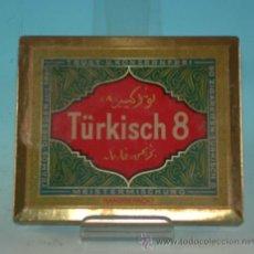 Cajas y cajitas metálicas: TÜRKISCH 8, CAJA DE CHAPA. ALEMANIA 1920 - 1930.. Lote 36441089