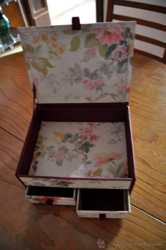 Caja de carton decorada con motivos florales 3 comprar - Cajas grandes de carton decoradas ...