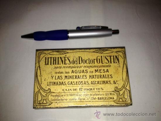 CAJA METALICA LITHINES DEL DR. GUSTIN.AÑOS 20-30 (Coleccionismo - Cajas y Cajitas Metálicas)