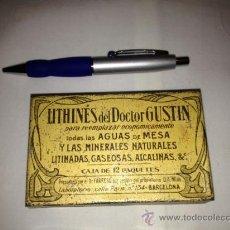 Cajas y cajitas metálicas: CAJA METALICA LITHINES DEL DR. GUSTIN.AÑOS 20-30. Lote 69109321