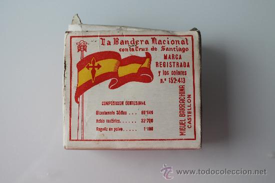 CAJA DE SODA LA BANDERA NACIONAL CON LA CRUZ DE SANTIAGO (ALIMENTO-COMIDA) (Coleccionismo - Cajas y Cajitas Metálicas)