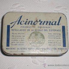 Cajas y cajitas metálicas: ANTIGUA CAJITA METÁLICA DE ACINORMAL. ABELLO - MADRID.. Lote 37204830