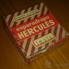 Cajas y cajitas metálicas: ANTIGUA CAJITA ENVASE CARTON ESPARADRAPO HERCULES. Lote 37208520