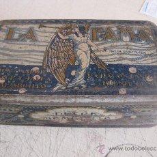 Cajas y cajitas metálicas: CAJA HOJALATA MEMBRILLO LA FAMA - CHACON CASTUERA - PUENTE GENIL (CÓRDOBA). Lote 37344211