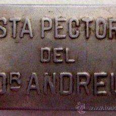Cajas y cajitas metálicas: CAJITA DE PASTA PECTORAL DEL DR. ANDREU BIEN CONSERVADA. Lote 37355721