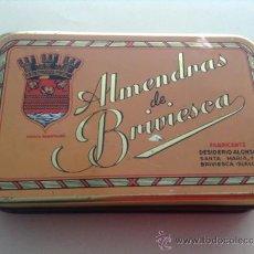 Cajas y cajitas metálicas: CAJA METALICA - ALMENDRAS DE BRIVIESCA. Lote 37413889