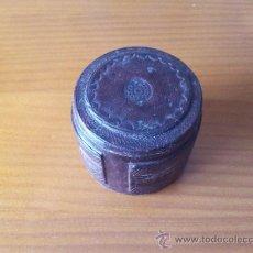 Cajas y cajitas metálicas: CAJITA FORRADA EN PIEL. Lote 37655139