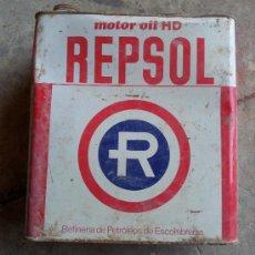 Cajas y cajitas metálicas: LATA ACEITE REPSOL ROJA 5 LITROS . Lote 37725957