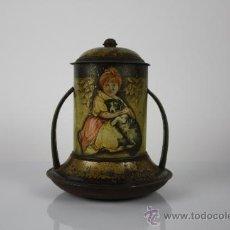 Cajas y cajitas metálicas: TARRO DE HOJALATA AÑOS 20 ART NOVEAU. . Lote 37916603