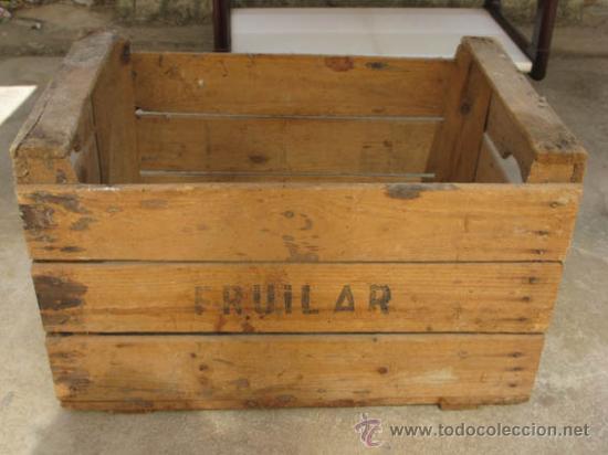 Antigua caja de madera para fruta de la casa fr comprar cajas antiguas y cajitas met licas en - Comprar cajas de madera para decorar ...