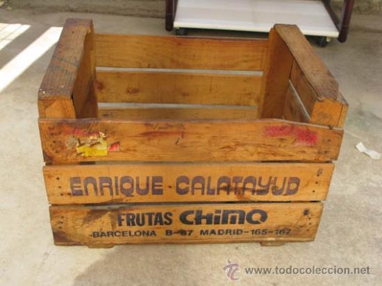 Antigua caja de madera para fruta de la casa fr comprar - Cajas de fruta decoracion ...