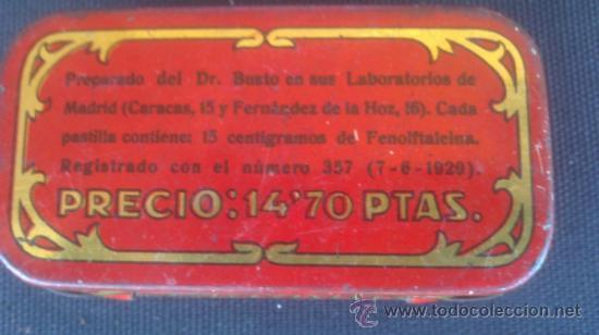 Cajas y cajitas metálicas: CAJA DE LATA DE LAXEN BUSTO - TAL Y COMO SE VEN EN LAS FOTOS . - Foto 3 - 38326864