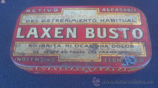 CAJA DE LATA DE LAXEN BUSTO - TAL Y COMO SE VEN EN LAS FOTOS . (Coleccionismo - Cajas y Cajitas Metálicas)