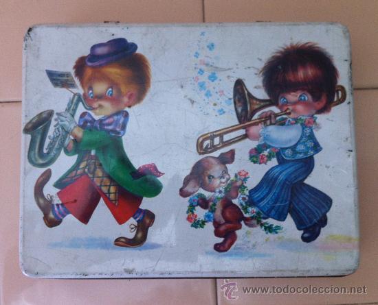 CAJA HOJALATA BOMBONES EL GORRIAGA. AÑOS 60 (Coleccionismo - Cajas y Cajitas Metálicas)