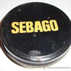 Cajas y cajitas metálicas: (K) CAJA DE CREMA ZAPATOS BETUN VACIA SEBAGO. Lote 38776478