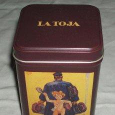 Cajas y cajitas metálicas: CAJA METALICA JABONES LA TOJA. Lote 38865353