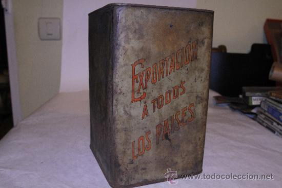 Cajas y cajitas metálicas: Lata de pimenton. Hijos de Felipe Lopez Garcia. 26x18 Caceres. Ver fotos - Foto 5 - 39128189