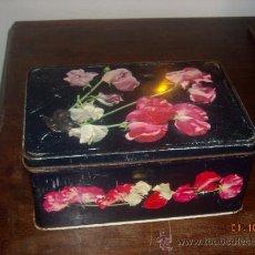 Cajas y cajitas metálicas: CAJA COLA CAO CON ROSAS. Lote 39283933