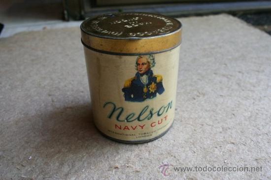 LATA DE TABACO NELSON NAVY CUT. SIN USO. CON PRECINTO METÁLICO. MADE IN LONDON. (Cajas y Envases - Cajas y Cajitas Metálicas)