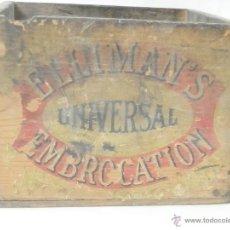 Cajas y cajitas metálicas: ELLIMANS ELLIMAN'S UNIVERSAL EMBROCATION. CAJA ORIGINAL DEL SIGLO XIX. MADE IN ENGLAND,. Lote 39346167