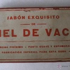 Boîtes et petites boîtes métalliques: CAJA DEE CARTON JABON EXQUISITO DE HIEL DE VACA (16X8X3CM APROX). Lote 39355218