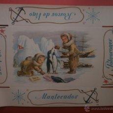 Cajas y cajitas metálicas: TAPA DE CARTON. POLVORONES. ROSCOS DE VINO. ALFAJORES. MANTECADOS.. Lote 39417878