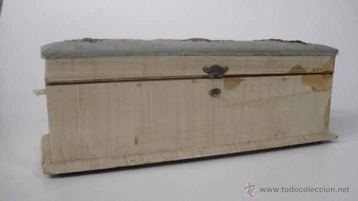 Antigua caja de madera con herrajes de cobre d comprar cajas antiguas y cajitas met licas en - Cajas madera barcelona ...
