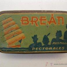 Cajas y cajitas metálicas: ANTIGUA CAJITA METÁLICA - BREÁN - PASTILLAS PECTORALES - LABORATORIO MONTES BRÚ - GRANADA.. Lote 39752957