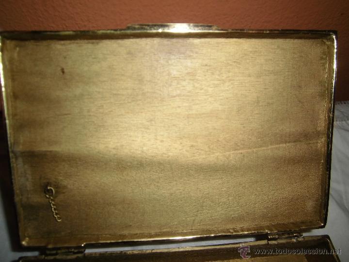 Cajas y cajitas metálicas: ANTIGUA CAJA DE BRONCE INTERIOR FORRADO EN MADERA - Foto 19 - 39767784