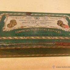 Cajas y cajitas metálicas: ANTIGUA CAJA DE HOJALATA LITOGRAFIADA CON PUBLICIDAD DE DOCTOR CEA, VALLADOLID .. Lote 39781549