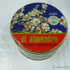 Cajas y cajitas metálicas: ANTIGUA CAJA METALICA EL ALMENDRO TORTAS IMPERIALES. Lote 39808602