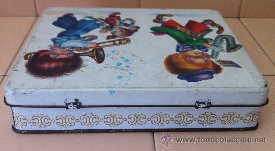 Cajas y cajitas metálicas: CAJA HOJALATA BOMBONES EL GORRIAGA. AÑOS 60 - Foto 2 - 39883765