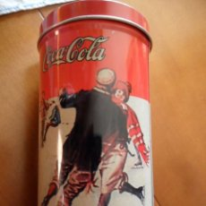 Cajas y cajitas metálicas: LATA DE CHAPA SERIGRAFIADA PUBLICIDAD DE COCACOLA AÑOS 80. Lote 39923575
