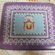 Cajas y cajitas metálicas: CAJA DE TE CONDAL. ESPINARDO MURCIA. AÑOS 60 GRANDE.. Lote 39962793