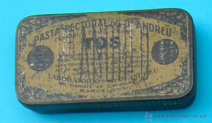 PASTA PECTORAL DEL DR. ANDREU CONTRA TODA CLASE DE TOS. CAJA METALICA (Coleccionismo - Cajas y Cajitas Metálicas)
