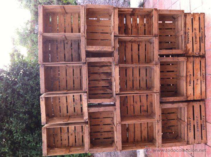 cajas de frutas antiguas lote de 18 cajas - Cajas De Frutas