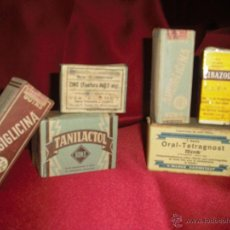 Cajas y cajitas metálicas: MEDICAMENTOS AÑOS 20-30-40 SIN ABRIR, CON SELLO IMPUESTO. Lote 40027398