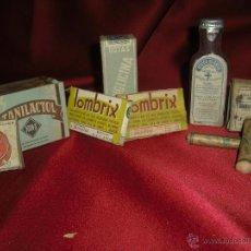 Cajas y cajitas metálicas: MEDICAMENTOS AÑOS 20-30-40 CERRADOS CON SELLO IMPUESTO. Lote 40027807
