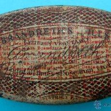 Cajas y cajitas metálicas: BRANDRETH'S PILLS. REVERSO EN CASTELLANO. CAJA METALICA. Lote 40065622