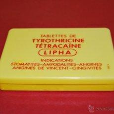 Cajas y cajitas metálicas: CAJA DE PLÁSTICO DE MEDICAMENTO - LIPHA - FRANCIA - LABORATORIO. Lote 40052278