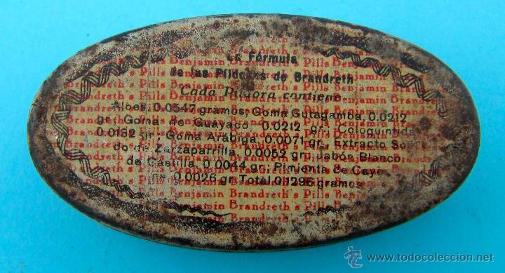Cajas y cajitas metálicas: BRANDRETH'S PILLS. REVERSO EN CASTELLANO. CAJA METALICA - Foto 2 - 40065622