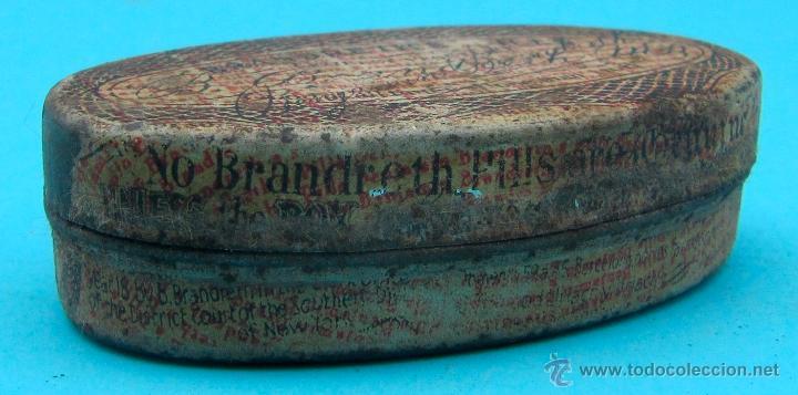 Cajas y cajitas metálicas: BRANDRETH'S PILLS. REVERSO EN CASTELLANO. CAJA METALICA - Foto 3 - 40065622