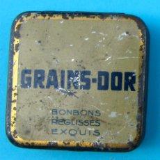 Cajas y cajitas metálicas: GRAINS-DOR. BOMBONS REGLISSES EXQUIS. KING-BULL. CAJA METALICA. Lote 40204547