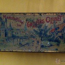 Cajas y cajitas metálicas: CAJA METALICA DE GALLETAS. Lote 40196347