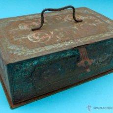 Cajas y cajitas metálicas: CONFITERIA SALINAS. ALCALA DE HENARES. CAJA METALICA. Lote 40179904