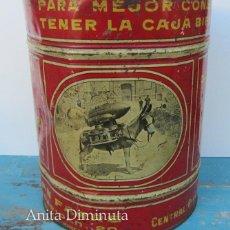 Cajas y cajitas metálicas: ANTIGUA Y RARISIMA CAJA DE CAFES - JUAN FARRE - SAN ANDRES BARCELONA - CASA HOMOTOMBA - TORREFACCION. Lote 40183657